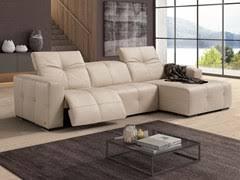 divani ego divano capitonn礬 in pelle a 3 posti con poggiapiedi