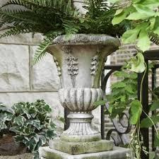 Stone Urn Planter by Large Garden Urns Wayfair
