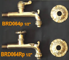 1 2 decorative faucets with escutcheon plate for garden use