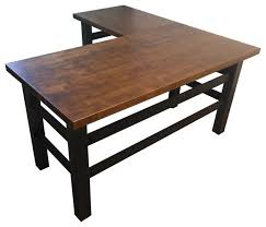 Industrial Table L L Shaped End Table Industrial Desk Like A Golfocd