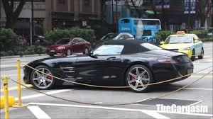 mercedes sls amg convertible black mercedes sls amg roadster startup acceleration