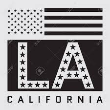 California Flag T Shirt Los Angeles California Typography With American Flag T Shirt