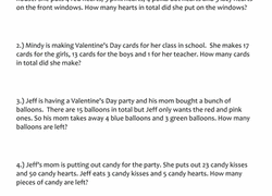 1st grade valentine u0027s day worksheets u0026 free printables education com