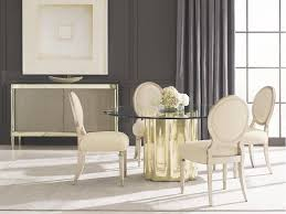 caracole dining room strike gold table base cla 016 202b whitley