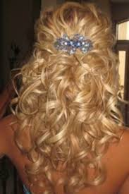 beautiful prom hair picture half up half down curly prom