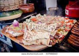 cuisine soldee traditional hungarian recepies sold food stock photo