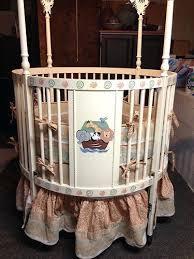 round crib restoration hardware ark round crib bedding cute