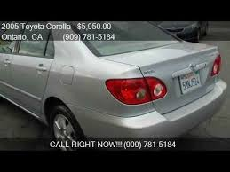 2005 toyota corolla le for sale 2005 toyota corolla le sedan 4d for sale in ontario ca 9176