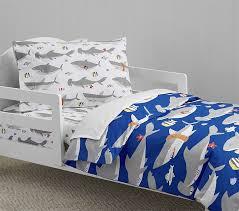 toddler bed blanket shark toddler duvet cover pottery barn kids