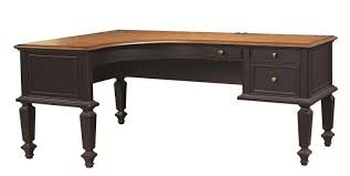 Shaped Desk Aspenhome Ravenwood Curved Half Pedestal L Shaped Desk With File