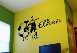soccer decal football custom name large soccer wall art decal