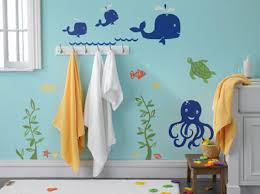 kid bathroom ideas bathroom with sea wall decals