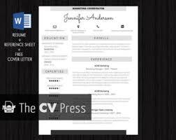 job resume template etsy