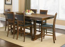 brown varnished walnut wood narrow dining tables for small spaces