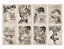 free halloween background printable free alice in wonderland atc tags background digital collage sheet