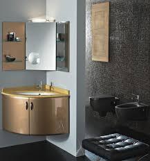 bathroom furniture single trough sink gold brown half italian