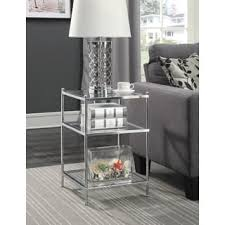 metal and glass end tables glass coffee console sofa end tables for less overstock com