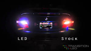 11w led reverse lights comparison to stock car led bulbs