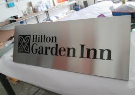 customized plaques with photo customized hotel inn decoration brushed steel wall identity plaque
