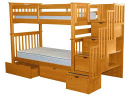 Stairs For Bunk Bed Bunk Beds Tall Twin Stairway Honey 2 Drawers 598