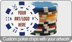 dice custom chips with your logo