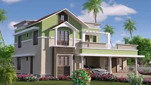 kerala style flat roof house plans youtube