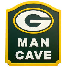 wall decor home office green bay packers man cave shield sign