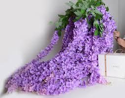 light purple silk wisteria garland 64 lavender artificial