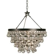 bling chandelier semi flushmount by robert abbey at lumens com
