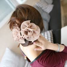 hair chiffon fashion korean women s beauty chiffon hair clips rose flower bow