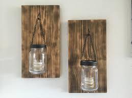 hillbilly mason jar sconces torched wood sconces wall
