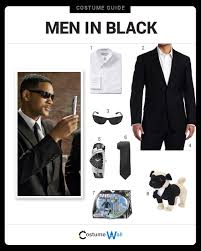 black suit halloween dress like men in black costume halloween and cosplay guides