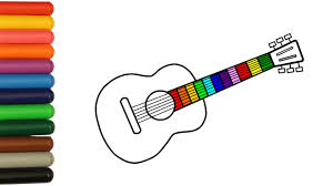 guitar coloring pages for сhildren how to draw guitar art