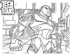 8 pics teen titans cyborg coloring pages cyborg teen titans