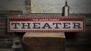 home theater decor theater wood sign home theater decor movie lover sign movie