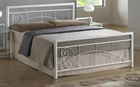 elegant and dramatic look white metal bed frame u2014 derektime design