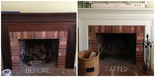 Painted Fireplaces Painted Fireplace Mantel Finally Home Made Modern