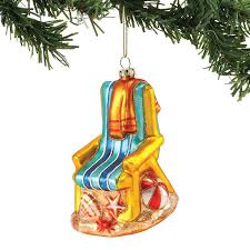 chair blown glass ornament all about flip flops