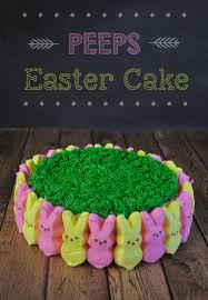 Easter Cake Decorating With Peeps by Peeps Easter Cake