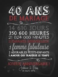 40 ans de mariage invitation anniversaire de mariage pour se rappeler en images de