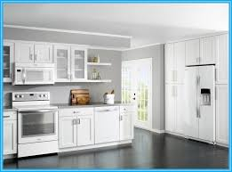 white kitchen cabinets with white appliances 4614