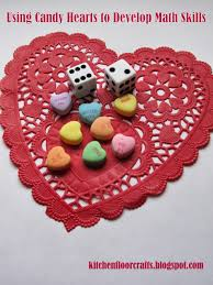 kitchen floor crafts using candy hearts for early math skills