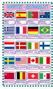 16 best esl vocabulary country nationality images on