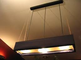 How To Install A Hanging Light Fixture Fluorescent Lights Hanging Fluorescent Lights Hanging