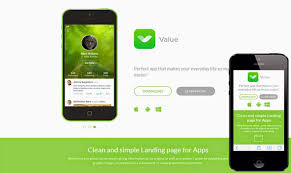 landing page templates for blogger value responsive mobile app blogger template