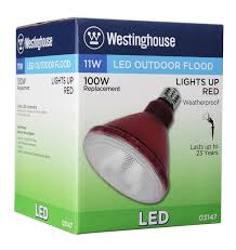 westinghouse par38 11 watt replaces 100 watt medium base red led