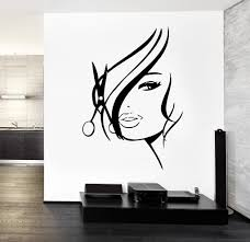wall decal hair salon barbershop hair cuttery z3201 tarjetas