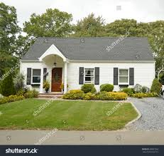 Bungalow Home Suburban Bungalow Home Overcast Sky Suburban Stock Photo 380831062