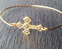 cross bangle bracelet images Gold cross bracelet etsy jpg