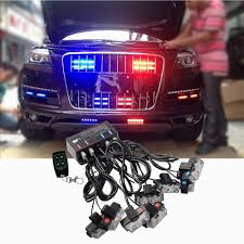 Led Blue Light Bar by 8 Led Red Blue Car Truck Wireless Emergency Warning Strobe Lights